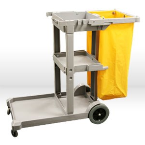 Picture of D011B Alliance Janitor Cart,25 gal,Grey,High Density Plastic