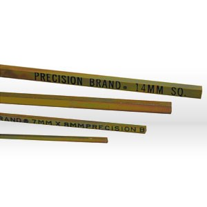 """Picture of 04045 Precision Key Stock,14mmx14mmx12"""",Plated"""