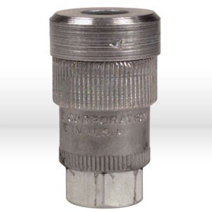 "Picture of 307112 Alemite Hose Coupler,1/4"",Female,Working PSI/300"