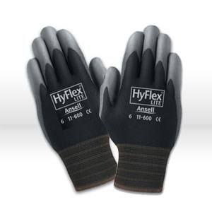 Picture of 11-600-8-B Ansell Hyflex Gloves,Light Duty For Multi-Purpose,Palm Coated & Knitwrist,Size 8
