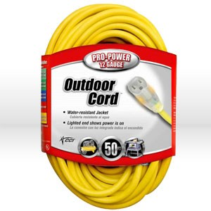 Picture of 02588 Coleman Lighted End Extension Cord,12/3 SJTW,L 50'