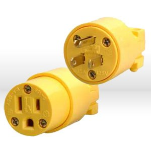 Picture of 05985 Coleman Replacement Plugs,NEMA 5-15C,Yellow,Vinyl Female Connector