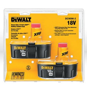 Picture of DC9096-2 DeWalt XRP Battery Pack,18V,Extended run-time