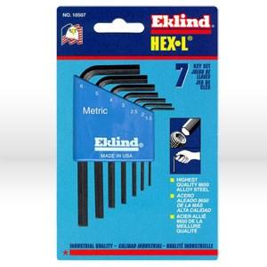 Picture of 10507 Eklind Hex-L L Shaped Hex Key Set,1.5mm-6mm,Short,7 pc