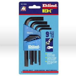 Picture of 10509 Eklind Hex-L L Shaped Hex Key Set,1.5mm-10mm,Short,9 pc