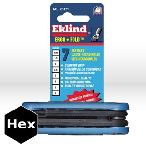 Picture of 25172 Eklind Ergo-Fold Fold Up Hex Key Set,7 pc,2mm-8mm