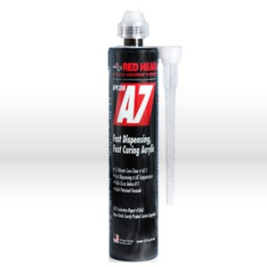 Picture of A7-10 ITW Red Head Anchoring Epoxy,Acrylic Adhesive,Fast curing cartridge,10 oz