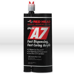 Picture of A7-28 ITW Red Head Anchoring Epoxy,Acrylic Adhesive,Fast curing cartridge,28 oz