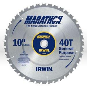 "Picture of 14070 Irwin Marathon Circular Saw Blade,10"",Teeth/40T,General purpose,5/8"""