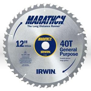 "Picture of 14080 Irwin Marathon Circular Saw Blade,12"",Teeth/40T,General purpose,1"""
