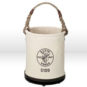 "Picture of 5109 Klein Tools Tool Bucket,Canvas,No. 6,Size 12""Dia,15"",Rope"