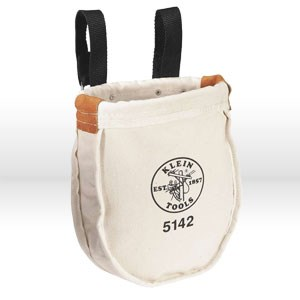 """Picture of 5142 Klein Tools Utility Bag,Snap belt loops for up to 3""""belts,No. 8,Size Top opening 8""""x 3"""",9"""""""