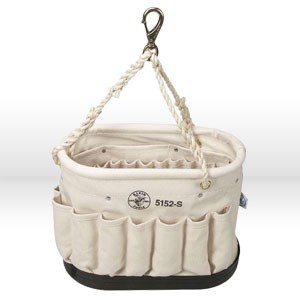 """Picture of 5152S Klein Tools Tool Bucket,Linen,No. 6,Size 10""""H x 7""""W,14"""",Rope"""