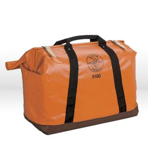 "Picture of 5180 Klein Tools Utility Bag,Vinyl-coated nylon,Size Extra large 18""D x24""L x10""W,Orange"