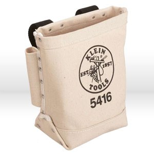 Picture of 5416L Klein Tools Tool Holder,Bull-pin & bolt bag with tunnel loop,Leather