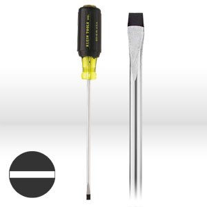 """Picture of 6018 Klein Tools Screwdriver,Round Shank,3/16""""Cabinet tip,Size 8""""Shank,11-3/4"""""""
