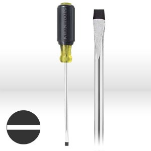 "Picture of 6056 Klein Tools Cabinet Tip Screwdriver,Round Shank,1/4""Cabinet tip,Size 6""Shank"