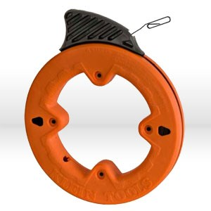 "Picture of 56000 Klein Tools Depth finder Fish Tape,1""increments,Size 1/8""wide,25',Steel,Dia.7"",Orange"