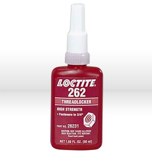 Picture of 26231 Loctite Thread Sealant,# 262 thread locker,Medium to high strength,50 ml bottle 1.69 oz