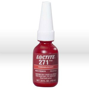 Picture of 27121 Loctite Thread Sealant,# 271 thread locker,High strength,10 ml bottle .34 oz