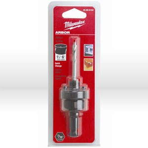 "Picture of 49-56-9100 Milwaukee Hole Saw Arbor,7/16"" shank,For hole saws from 1-1/4"" &,Lr,Thread/5/8"" -18"