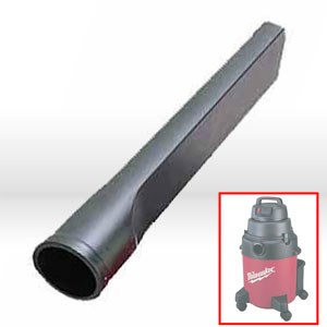"Picture of 49-90-1745 Milwaukee Vacuum Attachment,1-1/4""x6',Plastic crevice tool"
