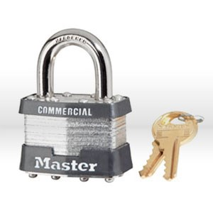 """Picture of 1 Master Lock,Non-re-keyable,1-3/4"""",Silverly"""