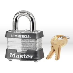 "Picture of 3 Master Lock,Non-re-keyable,1-9/16"",Silverly"