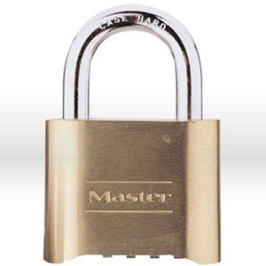 """Picture of 175 Master Lock,Resettable Combo,Bottom dial location,2"""",Brass,Gold,5/16"""" Shackle,1"""" Clearance"""