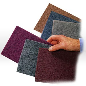 "Picture of 48011-16553 3MBrite extra duty hand pad,6444,Fine Grit,Brown,6""x9"""