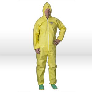 Picture of C5428-4XL Lakeland ChemMax 1 Chemical Coverall,Yellow fabric Coverall W/zipper4X-L