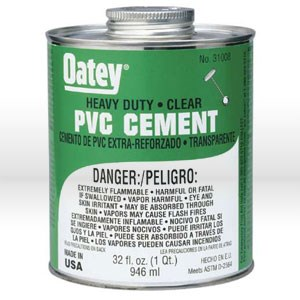 Picture of 30876 Oatey Pipe Cement,16 oz,PVC heavy duty clear cement