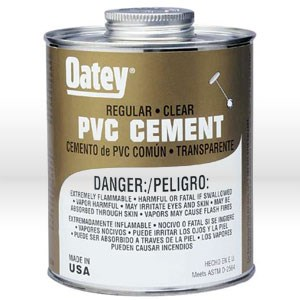 Picture of 31015 Oatey Pipe Cement,32 oz,Regular-bodied clear PVC cement