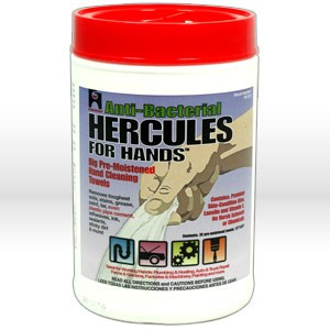 "Picture of 45333 Oatey Hercules Hand Cleaning Wipes,10"" x12"" tub of 70"