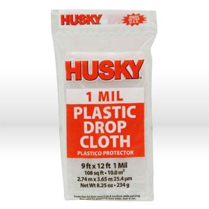 Picture of DCHK-1 Poly America Husky Drop Cloth,Drop cloth,9'X12',.001 mil