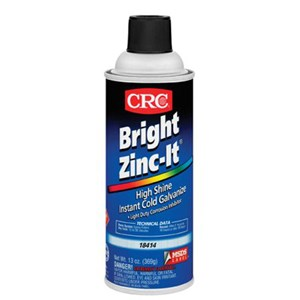 Picture of 18414 CRC BRIGHT ZINC-IT Cold Galvanized Inhibitor, Corrosion Inhibitor Coatings, 16 oz Aerosol