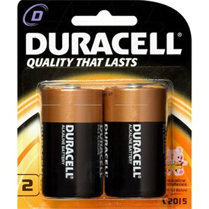 Picture of MN1300B2Z Duracell Coppertop Regular Batteries,D,2 Pack