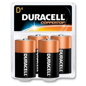 Picture of MN1300R4Z17 Duracell Coppertop Saver Batteries,D,4 Pack