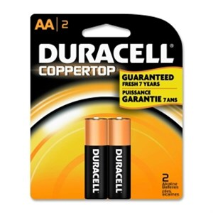 Picture of MN1500B2Z Duracell Coppertop Regular Batteries,AA,2 Pack