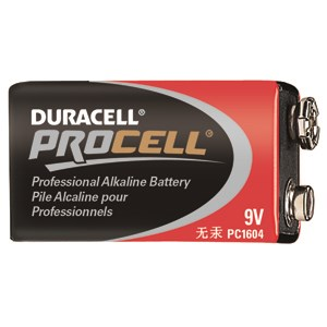 Picture of PC1604 Duracell Procell Alkaline Batteries,9V,12 Box