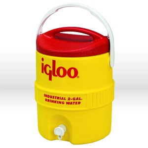 Picture of 421 Igloo 400 Series Commercial andIndustrial Beverage Cooler,2 Gal,Yellow & Red