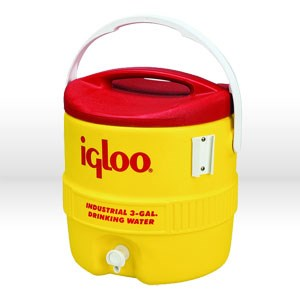 Picture of 431 Igloo 400 Series Commercial andIndustrial Beverage Cooler,3 Gal,Yellow & Red