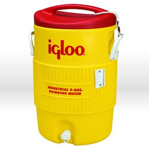 Picture of 451 Igloo 400 Series Commercial andIndustrial Beverage Cooler,5 Gal,Yellow & Red