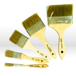 """Picture of 1602-.5 Starlee Imports White Chinese Wood Handle Chip Brush,1/2"""""""