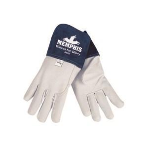 """Picture of 4850XXL MCR Welder's Gloves,Premium Grain Goatskin MIG/TIG,Sewn KEVLAR,4"""" Split Leather,XXL"""