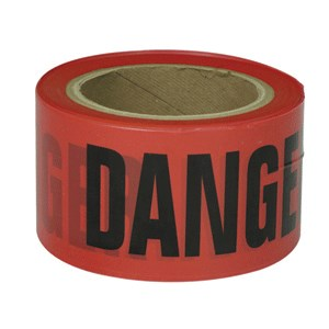 Picture of B3102R10 Presco Barricade Tape,Gauge 2 Mil,Danger Do Not Enter,Red