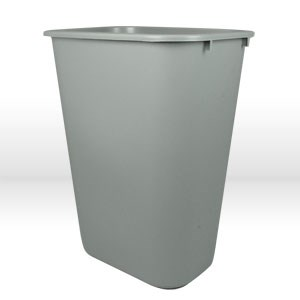 """Picture of 2955-00-GY Rubbermaid Wastebasket,Sm,Gray,11.38""""l x8.25""""w x12.13""""h,13-5/8 qt"""