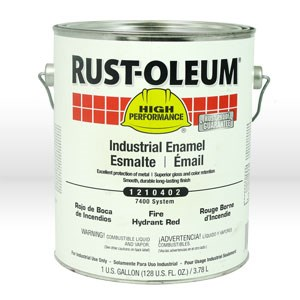 Picture of 1210402 Rust-Oleum Enamel Paint,Industrial Alkyd Oil Based Enamel,1 gallon,Fire hydrant red