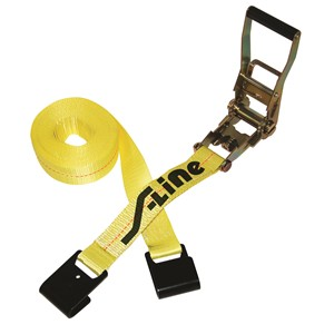 """Picture of 557 S-Line Ratchet Long Wide Handle & Flat Hooks 2""""x27' 3,333 lbs"""