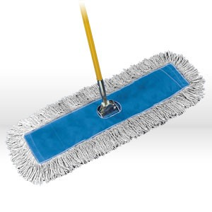 """Picture of FGK15900-WH00 Rubbermaid K159 Kut-A-Way Dust Mop,5""""Wx72""""L,White"""
